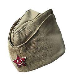 #Genuine russian #soviet ussr red army ww2 military uniform #pilotka hat cap…