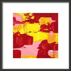 Process c2013 Paul Ashby bright orange yellow & pink abstract painting Fine Art Prints available