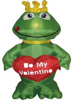Valentine's Day Inflatable Frog with Heart Decoration