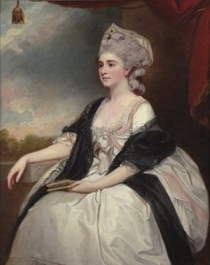 """""""Portrait of Mrs Mary Lutwyche, Nee Thomas,"""" by George Romney, 1782."""