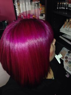 Rose red and Cerise :) Pink hair.  Thanks to La Riche Directions