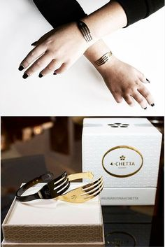 """Looking for a unique """"Made in Italy"""" jewlery? 4chetta - Fork Bracelet is the Italian symbol of """"good taste"""", here in two luxury versions: Gold and Black Ruthenium. Check all the other available colors!"""