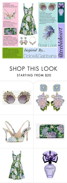 """Floral Look"" by trebleheart ❤ liked on Polyvore featuring Dolce&Gabbana and BCBGMAXAZRIA"