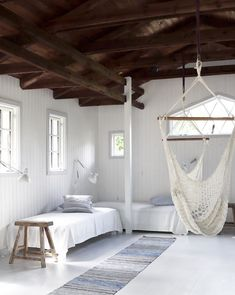10 Dreamy Scandinavian Summer Cottages Cabin Homes, Log Homes, Norwegian House, Simple Dining Table, Rustic Stools, Relaxation Room, Relax Room, Wood Panel Walls, Scandinavian Home