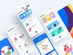 Illustration Learning by YueYue🌙 for Top Pick Studio on Dribbble Game Ui Design, App Icon Design, Ux Design, Design Layouts, Mobile Ui Patterns, Educational Apps For Kids, Flat Web Design, App Design Inspiration, Web Design Projects
