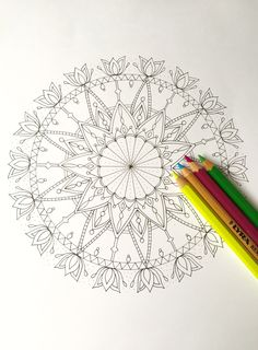 An ink #mandala for you to colour in.  Please visit my blog to download