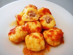 stuffed gnocchi with parma ham and gorgonzola