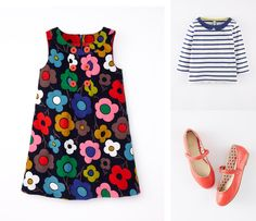 Sixties collars, punchy prints and mini Mary Janes are made for Mad (wo)men in the making. #Miniboden