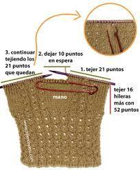 Resultado de imagen para guantes tejidos dos agujas