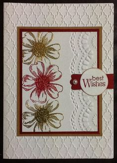Birthday card featuring Stampin' Up! Flower Shop stamp set #StampinUp