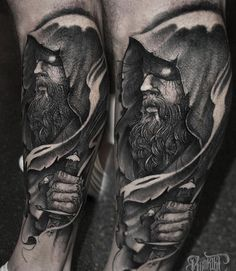 The almighty Hades. First session of a leg sleeve! @rookletink #kwadron…