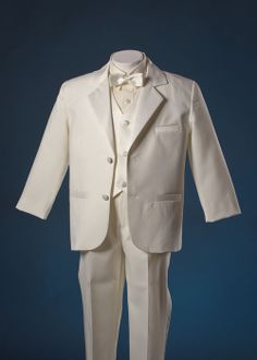Boys Ivory Cream Tux Tuxedo Suit Pageant Ring Bearer 7 – Find Boys Tuxedo, Tuxedo Suit, Ivory Tuxedo, Ring Bearer Suit, Boys Wedding Suits, Toddler Boys, Kids, Formal Wear