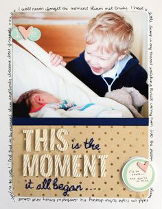 #papercraft #scrapbook #layout. This Moment by pamlee81 at @Studio_Calico