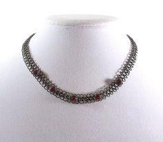 VERY Vintage Choker Necklace by KatsCache on Etsy