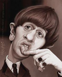 Caricature de Ringo Star de Evelyne Arcouette
