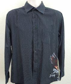 House Of Blues Men's Long Sleeve Button Front Men's Shirt Size Medium #HouseofBlues #ButtonFront