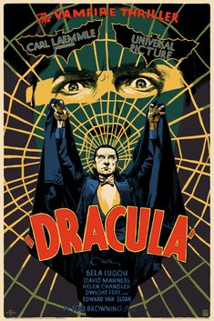 "Dracula by Francesco Francavilla  24""x36"" Screenprint, Edition of 350  Printed by D&L Screenprinting  Expected to Ship March 2018  $65 - Universal Monsters - Mondo Movie Poster"