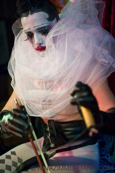 """Sketchy's Anti-Art School Berlin - Photos - Dr Sketchy - """"The Dark Carnival Session"""" - Le Pustra Earth Drawings, Berlin Photos, Evil Art, Real Fire, Amy Brown, Clowning Around, Big Top, Life Drawing, Hush Hush"""