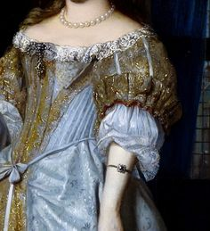 """Portrait of a Lady  (1667) (detail) by Gabriël Metsu (1629-1667)."
