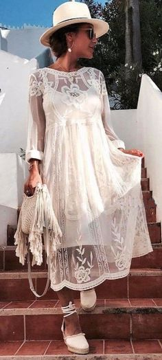 NWT ZARA Embroidered Midi Cream Mesh Lace Dress Tunic Size M Ref.2712/277 #ZARA #TunicTeaDress #Casual