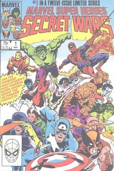 Marvel Super Heroes Secret Wars is a twelve-issue comic book crossover limited series published from May 1984 to April 1985 by Marvel Comics.                                              The symbiote costume that Spider-man wore before it joined with Eddie Brock and became Venom was obtained in issue 8 of this awesome storyline.