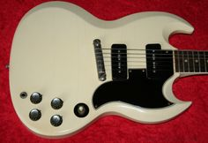 1962 Gibson SG Special, Polaris White, Great wide neck!  Nice Brazilian Rosewood fingerboard, Original stud tailpiece, Two full sounding P-90 pickups, Low action, Nice early example, Very Cool guitar! EC, Original Brown semi hard case with Red lining!