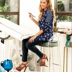 Lauren Conrad. Love the shoes. She has great style.