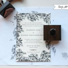Home made invitations- stamp pads