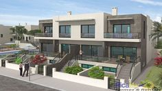 RicaMar Homes Real Estate Alicante, Bungalows, Moraira, Real Estate Houses, Townhouse, Multi Story Building, Mansions, House Styles, Home Decor