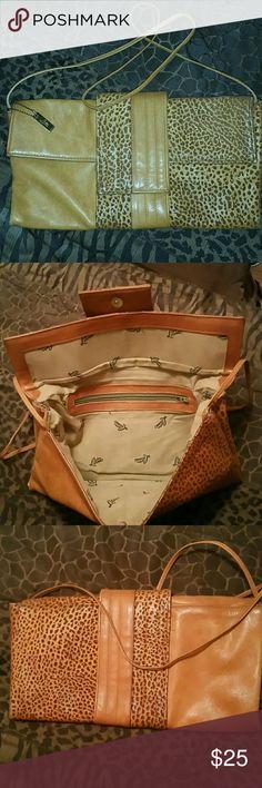 Clutch Nice little camel and leopard color bag letisse Bags Clutches & Wristlets