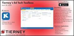 #TierneyTools April 28, 2015: Kidblog http://kidblog.org/home/ | Follow TierneyEd on Twitter and Tierney Brothers on Facebook for new tech tools! | https://www.facebook.com/TierneyBrothers | https://twitter.com/TierneyEd | #edtech