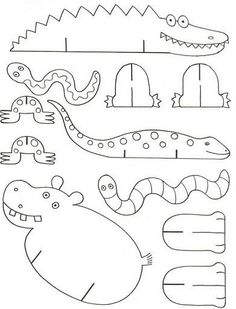 Could use this for a Zoo Quiet book page. Cardboard Animals, Paper Animals, Cardboard Crafts, Zoo Animals, Cardboard Model, Cutest Animals, Wild Animals, Funny Animals, Sunday School Crafts