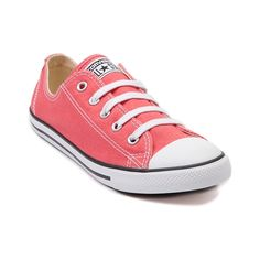 Shop for Womens Converse All Star Dainty Sneaker in Coral at Journeys Shoes. Shop today for the hottest brands in mens shoes and womens shoes at Journeys.com.The classic Converse All Star Lo just got a makeover! Now with a lower, more feminine profile, Converse presents the All Star Dainty five eyelet lace-up for a subtle lady-like charm. Durable canvas upper and cushioned midsole with the signature All Star rubber toe box and vulcanized outsole for that timeless Chuck Taylor style.