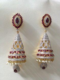 Traditional Jhumkis.www.lozengejewellery.com