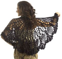 A Pineapple Lace Shawl | AllFreeCrochet.com
