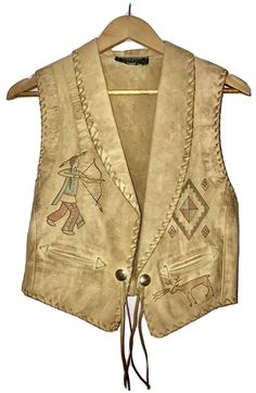 Tooled Leather, Leather Vest, Leather Tooling, Velvet Smoking Jacket, Toned Women, Mens Attire, Vintage Jacket, Native American Indians, Hand Tools