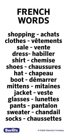 BASIC FRENCH VOCABULARY WORDS --- http://wanelo.com/p/3625211 ...