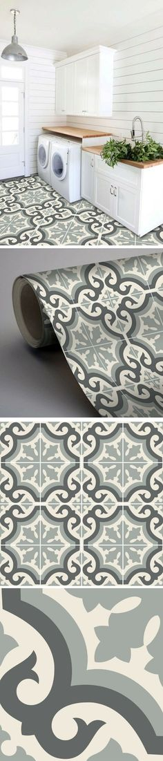 Adhesive tile imitation cement tiles to revamp the laundry room Decor, Home Staging, Home N Decor, Bedroom Design, Living Room Decor, Home Decor, Home Deco, Interior Design Living Room, Interior Design