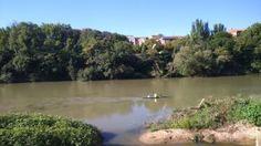 Piraguismo en el Ebro