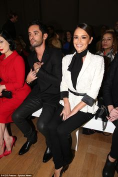 Guests of honour: Cheryl and Jean-Bernard sat on the front row during the Haute Couture show, and the singer could barely hide her glee at being back in the spotlight after her time off Cheryl Ann Tweedy, Pretty Movie, Cheryl Fernandez Versini, Girls Aloud, Cheryl Cole, Little Red Dress, Black And White Style, Poses For Photos, Haute Couture Fashion