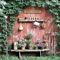 Rustic garden nook