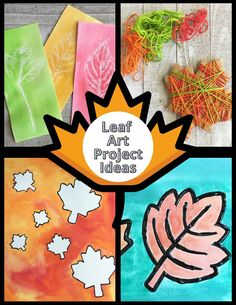Leaves Art Projects And Crafts For Kids | Little Bins for Little Hands