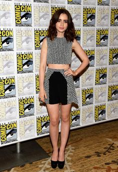 Lily Collins in Paper London @ 2013 San Diego Comic Con