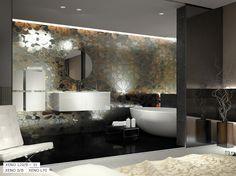 Umywalki Krzemień - galeria umywalek Glass Mosaic Tiles, Swimming Pools, Salons, Bathtub, Interior Design, Bathroom, Euro, Flora, Style