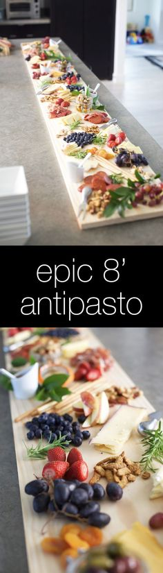 Epic Antipasto Platter - how to and tips for assembling one (tapas ideas restaurant) Food Platters, Cheese Platters, Appetizers For Party, Appetizer Recipes, Cheese Appetizers, Antipasto Platter, Good Food, Yummy Food, Think Food