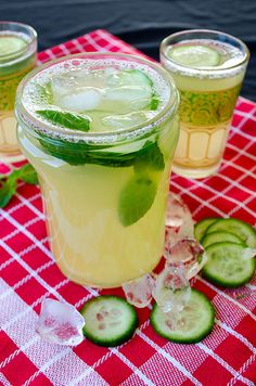 The most refreshing lemonade with two amazing additions. This lemonade is flavored with cucumber and fresh mint.Can you think of a more refreshing drink? Perfect for summer! | giverecipe.com