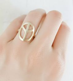Peace Sign Ring ♥ this is what I want.