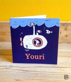 Custom geboortekaartje 'Youri'