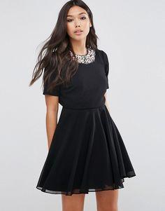 ASOS | Платье мини с цветочной отделкой ASOS