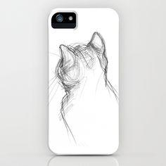 Cat iPhone Case by Rebeka Lengyel - $35.00